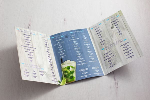 Cartas menú printshop